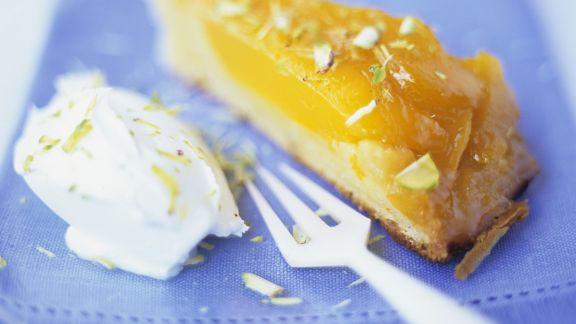 Rezept: Mango-Karamell-Kuchen