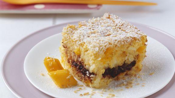 Rezept: Mango-Reisauflauf mit Schokolade