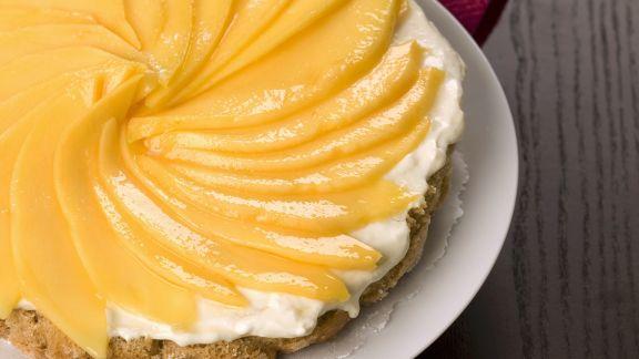 Rezept: Mangokuchen mit weißer Schokoladencreme