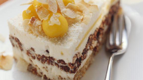 Rezept: Mangotorte mit Pekannüssen