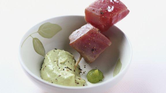 Rezept: Marinierter Thunfisch mit Avocadodip