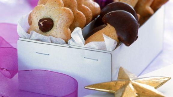 Rezept: Marzipanplätzchen mit Schokolade