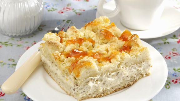 Rezept: Mascarponekuchen mit Streuseln