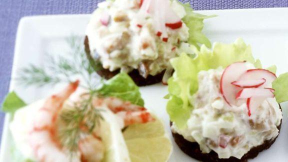 Rezept: Matjes- und Garnelen-Häppchen