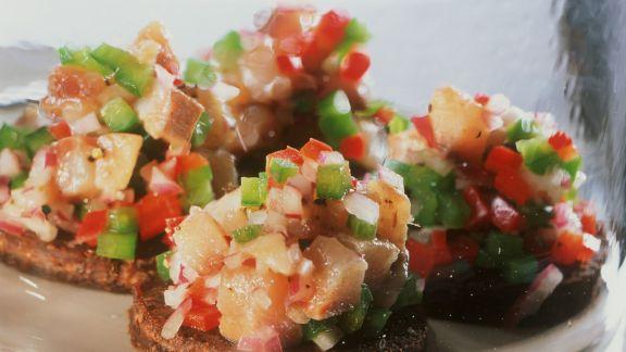 Rezept: Matjeshäppchen mit Paprika