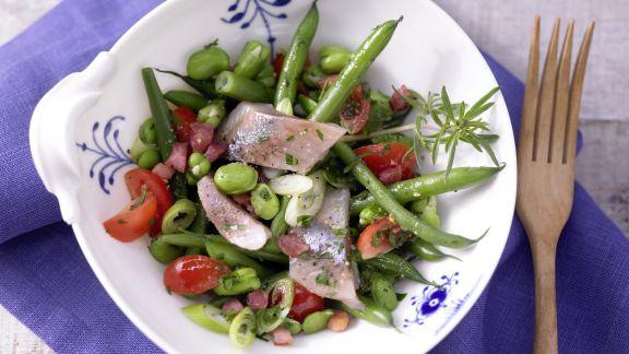 Rezept: Matjessalat mit Bohnen