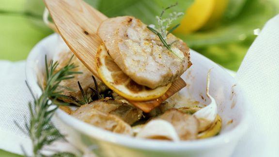 Rezept: Mediterrane Kalbsschnitzel
