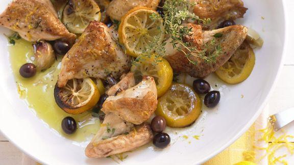 Rezept: Mediterranes Hähnchen mit Zitrone