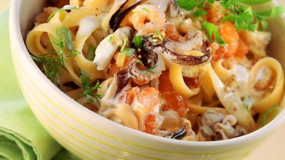 Rezept: Meeresfrüchte-Nudeln