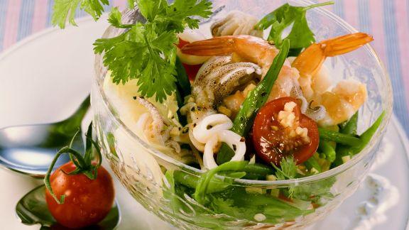 Rezept: Meeresfrüchtesalat thailändisch gewürzt
