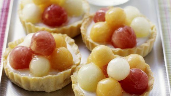 Rezept: Melonen-Joghurt-Torteletts