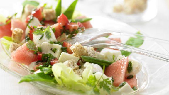 Rezept: Melonen-Mozzarella-Salat