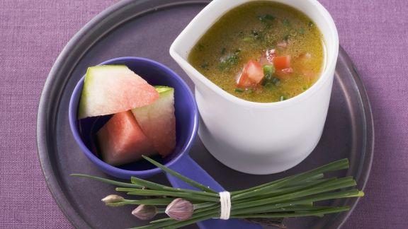 Rezept: Melonen-Tomaten-Dressing mit Vanille