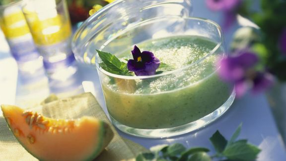 Rezept: Melonenkaltschale mit Minze