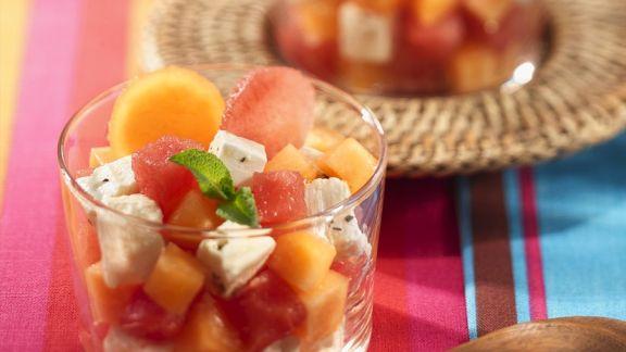 Rezept: Melonensalat mit Feta