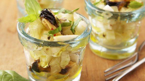 Rezept: Miesmuschelsalat mit weißen Rüben