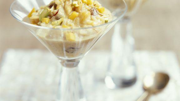 Rezept: Milchreis mit Mango nach indischer Art