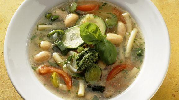 Rezept: Minestrone mit Pesto genovese
