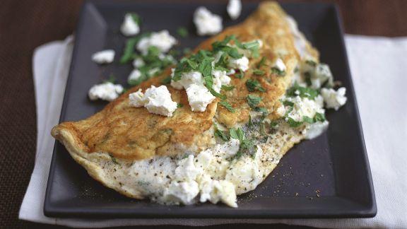 Rezept: Mit Feta gefülltes Omelette