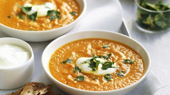 Rezept: Möhren-Süßkartoffel-Suppe