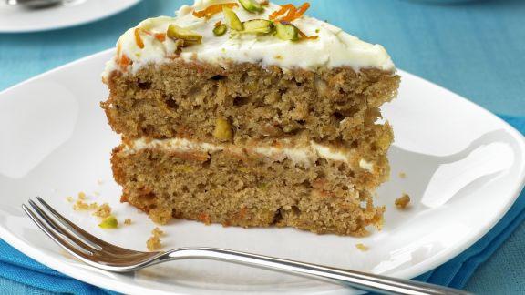 Rezept: Möhrenkuchen mit Mascarpone
