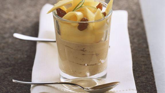 Rezept: Mokkamousse mit Mango