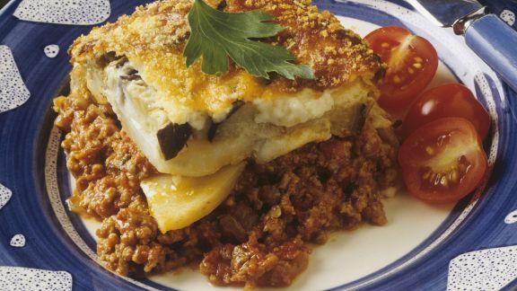Rezept: Moussaka: Griechischer Auberginenauflauf