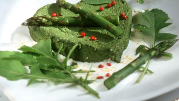Rezept: Mousse aus grünem Spargel