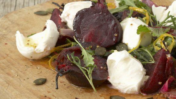Rezept: Mozzarella mit Roter Bete
