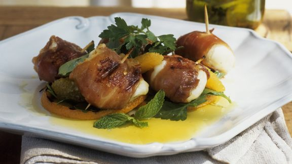 Rezept: Mozzarella-Pancetta-Rouladen