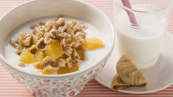 Rezept: Müsli mit Feige und Orange