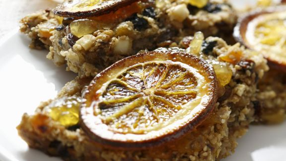 Rezept: Müslischnitten mit Orangenkonfitüre