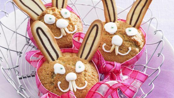 Rezept: Muffin-Hasen zu Ostern