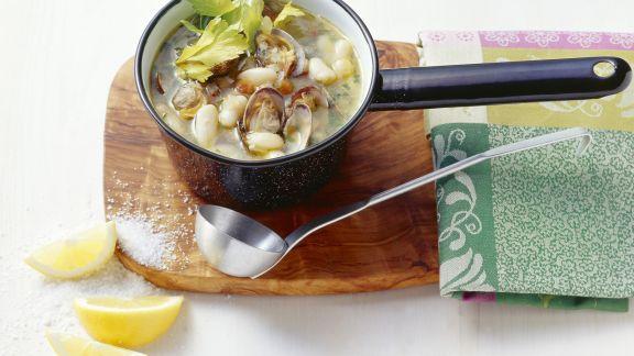 Rezept: Muschel-Bohnen-Suppe nach italienischer Art
