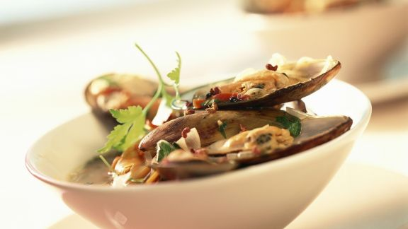 Rezept: Muscheln mit scharfer Soße