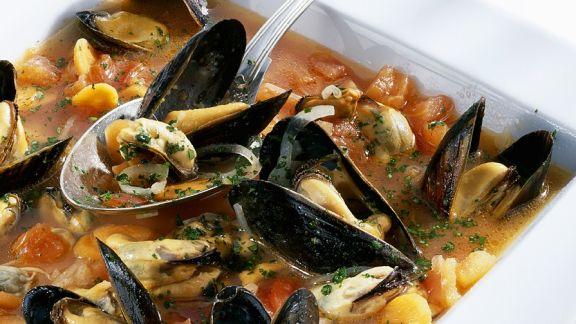 Rezept: Muschelsuppe mit Gemüse
