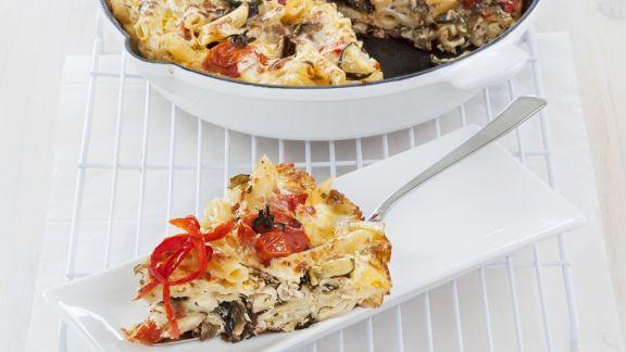 Rezept: Nudel-Gemüse-Omelett