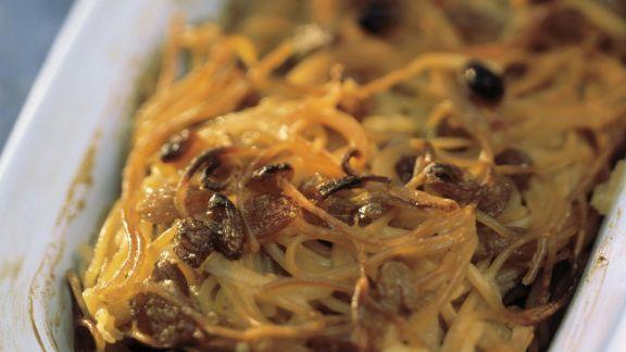 Rezept: Nudelauflauf auf jüdische Art mit Rosinen