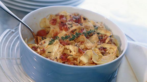 Rezept: Nudelauflauf mit Käse und Tomaten