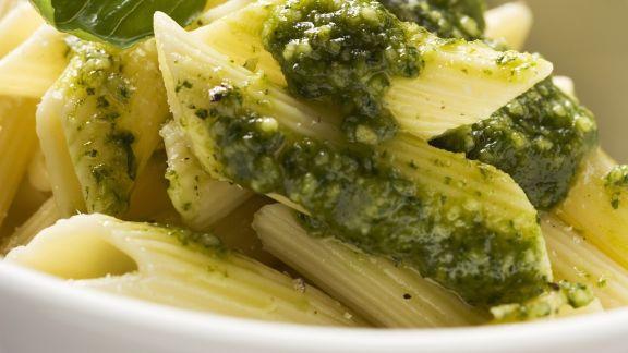 Rezept: Nudeln mit Pesto