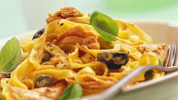 Rezept: Nudeln mit Thunfischsauce