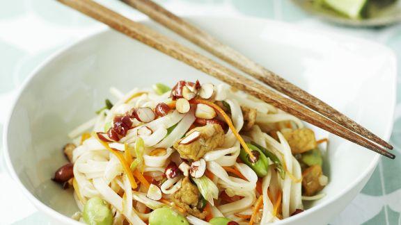 Rezept: Nudelpfanne auf thailändische Art (Pad Thai)