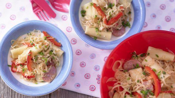 Rezept: Nudelsalat mit Cabanossi