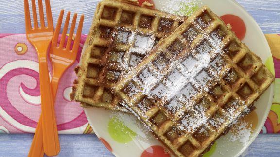 Rezept: Nusswaffeln mit Honig