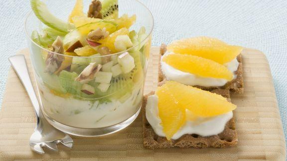 Rezept: Obst-Sellerie-Salat mit Joghurt