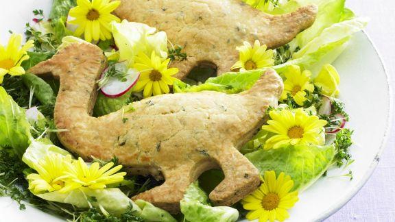 Rezept: Österlicher Salat mit Gänse-Gebäck