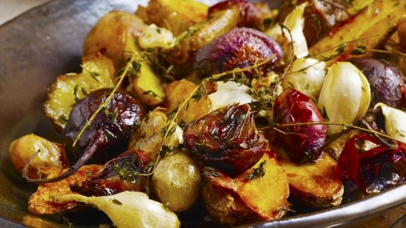 Rezept: Ofengemüse mit Knoblauch und Thymian