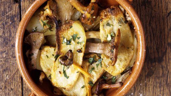 Rezept: Ofenkartoffeln mit Pfifferlingen