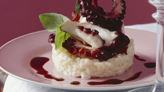 Rezept: Oktopus in Rotwein geschmort