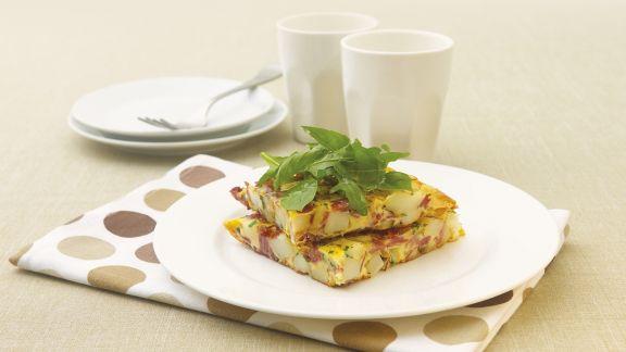 Rezept: Omelett mit Cornedbeef und und Kartoffeln